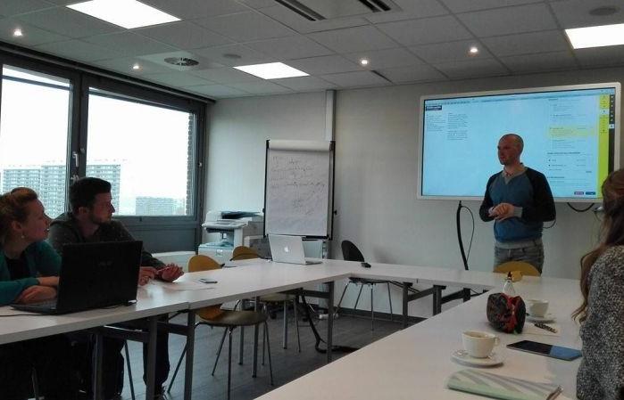 Workshop for teachers in Belgium