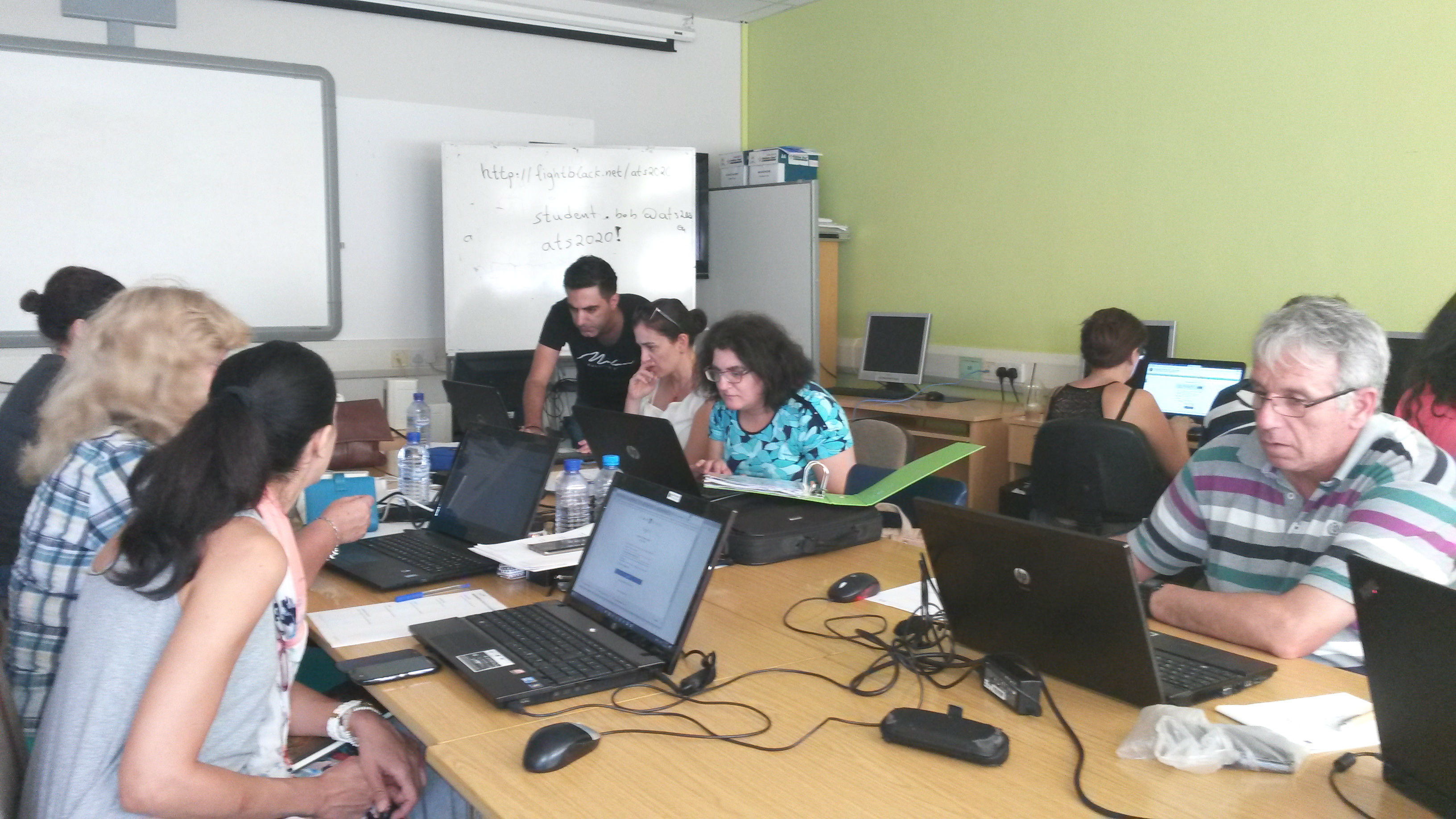 Cypriot teachers practice with ATS web platforms at 5th training for teachers